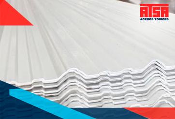 Lámina acanalada de PVC tricapa