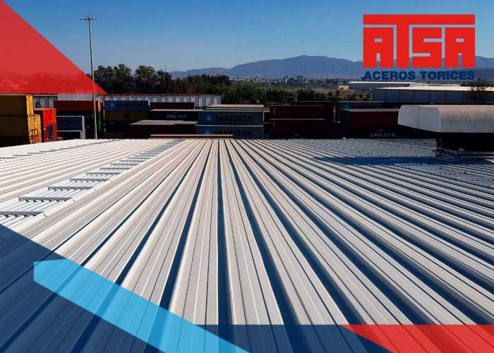 La lámina de cubierta compuesta es una lámina de acero que trabaja con concreto, que tiene un perfil de acero acanalado tipo TDR 91.5.